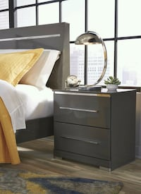 Steelson Gray Nightstand  Houston, 77036