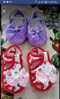 2 pairs baby shoes 6 to 12 months 556 km