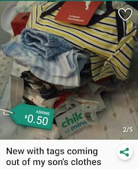 Baby clothes new. Come look. Colton, 92324