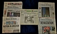 5 collectible Newspapers! History ! Las Vegas, 89109