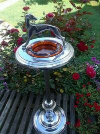 Silver standing ashtray