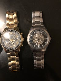 Bulova watch silver gold guess watch
