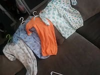 baby's assorted clothes 0-6 month