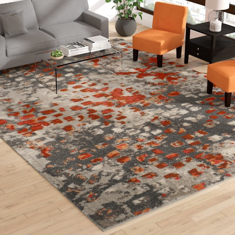 Abstract area rug 8' x 11' - PRICED TO SELL 794120d5-3340-413d-9763-41bb624e7015