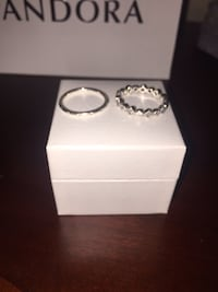 silver diamond ring in box Vaughan