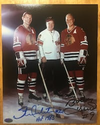 STAN MIKITA & BOBBY HULL Double Autographed Chicago Blackhawks Photo Toronto