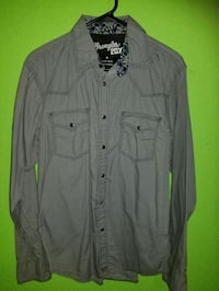 gray button-up long-sleeved shirt Fort Worth, 76164