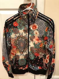 black, red, and yellow floral zip-up Irwin, 15642