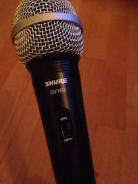 black and gray Shurf microphone Lorraine, J6Z 3R8