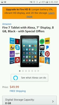Amazon fire 7 tablet  Carrollton, 30116