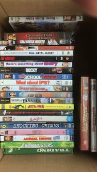 assorted DVD movie case lot Lutherville Timonium, 21093