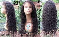 "New 23"" Glueless Body Wave 100% Human Hair Lace Front Wig (s9) Glenarden"