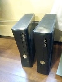 black Xbox 360 game console Surrey