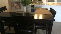Dark wood high table with 4 chairs Tacoma, 98446