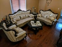 Italian leather furniture  set + Coffee table set. Brampton