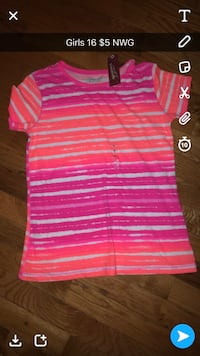 pink and white stripe polo shirt Hinkle, 40953