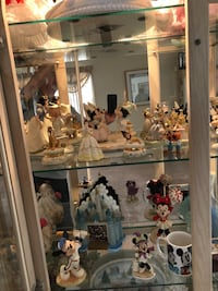 White wooden framed glass display cabinet. Lenox figures sold separately.   Cabinet not for sale! East Patchogue, 11772