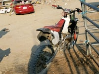 red and white motocross dirt bike Llano, 93544