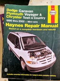 Haynes manual for caravan Voyager and Town & country