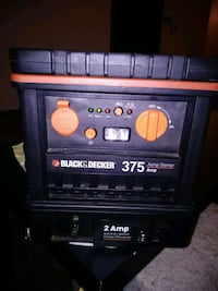 375 Instant/ 750 Peak Jump Starter/ Battery charger combo w/ 2 amp bat