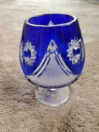 Beautiful Blue Crystal Goblet
