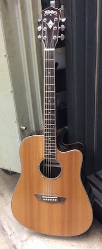 Washburn electric acoustic guitar musical instrument WD-27sce pre owned tested 838881-1