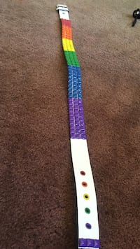 purple, white, green, and blue belt Hudson, 46747