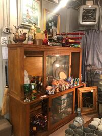 Oak Store Display Cabinet Brookeville, 20833