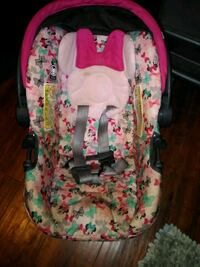 baby's pink and green floral car seat carrier Mesa, 85208