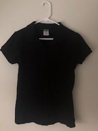 black scoop neck cap sleeve shirt San Jose, 95148