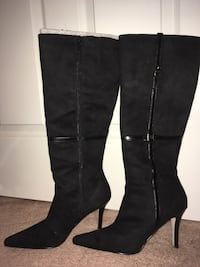 Tall Black Suede Boots - daisy fuentes Lorton, 22079