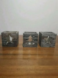 three wooden candle holders Winnipeg, R2K 4A1