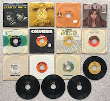 "Lot of 15 - 7"" 45 RPM Misc. Records Everly Bros to Kristofferson"