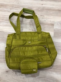 Beautiful green lug bag. Hardly used once Pickering, L1V 4X1