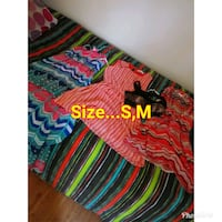 red, green, and blue stripe textile 1097 mi