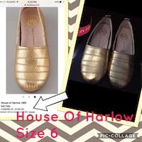 NWT HOUSE OF HARLOW KAIL GOLD FLATS SIZE 6 CHEAP! London