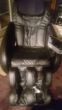 black leather massage chair with ottoman Chesapeake, 23323
