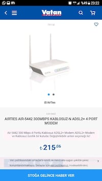 Airties Air-5442  Adsl2 Modem