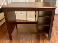Dark Brown Desk w Open Shelves  190 mi