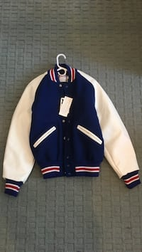 blue and white letterman jacket San Diego, 92130