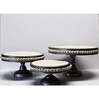 Round beige and brown wooden table Savannah, 31408