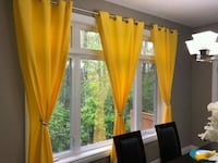yellow and green floral window curtain Oakville