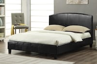 Brand new faux leather bed with curved headboard  多伦多, M1S 5C6