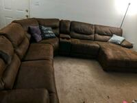 Microfiber Sectional with Recliners and Chaise Germantown, 20874