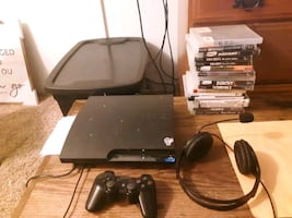 Ps3 headset 2 controllers 17 games