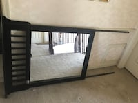 black wooden-framed mirror headboard Fort Washington, 20744