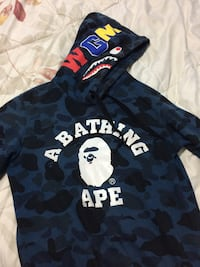 Black and blue a bathing ape pull-over hoodie Courtice, L1E 2Z7