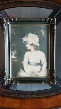 Antique wooden framed painting