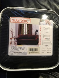 Subrtex  1 piece spandex stretch sofa slipcover. For loveseat, in Black. New, never been open Bloomfield Hills, 48302