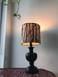 Black lamp with tree branch lamp shade  Toronto, M5A 1L9
